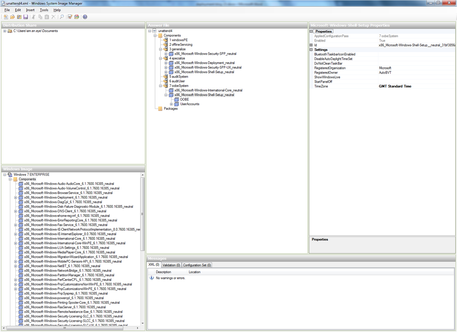 Building an Unattended Answer File for Windows 7 | Me, Myself and IT