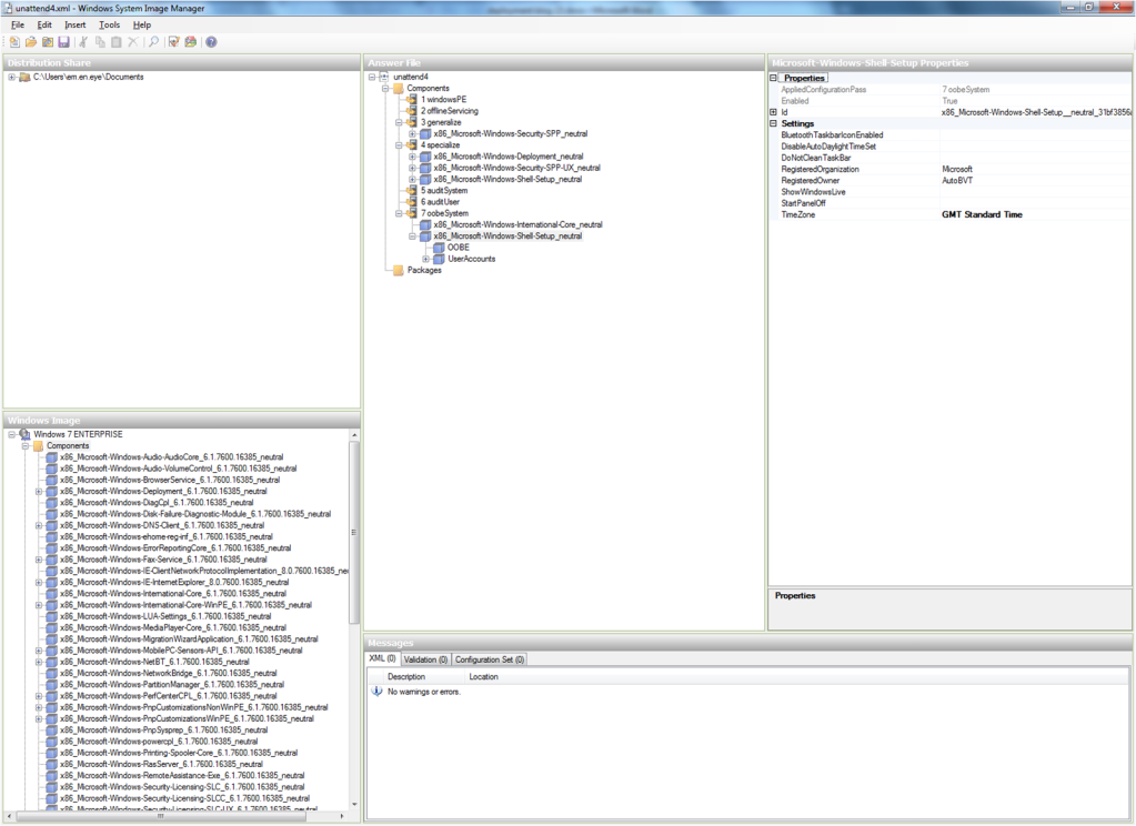 Building an Unattended Answer File for Windows 7 | Me