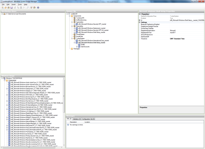 A screenshot of the Windows SIM tool