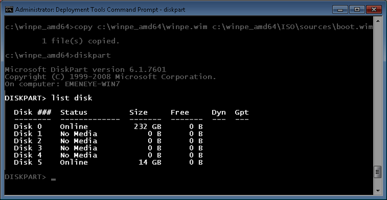 how to create a windows 7 pe boot disk