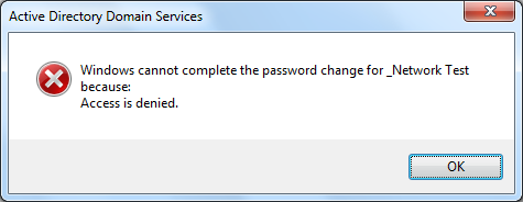 6 reset password test access denied