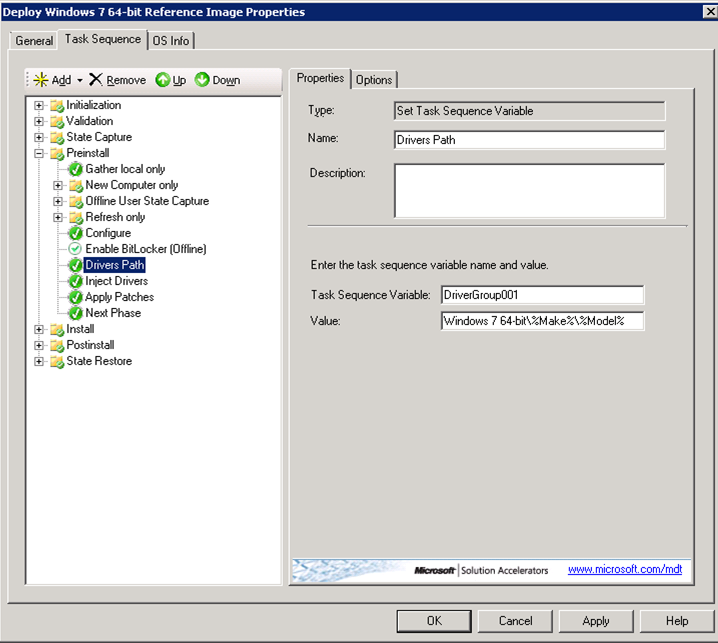 Injecting Drivers Based On Target Computer Model Using MDT