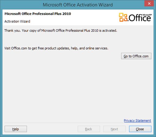 Download office 2010 activation fix free babeblogs - Activation office 2013 sans telephone ...