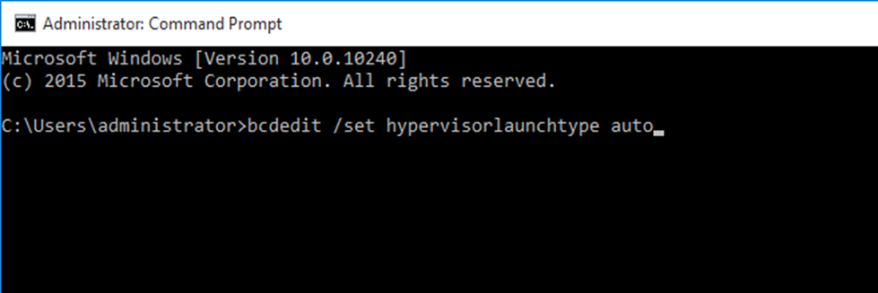 machine could not be started because the hypervisor