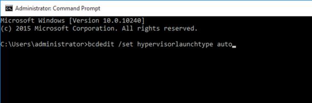 set hypervisor auto