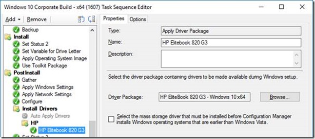 hp 8200 elite drivers sccm