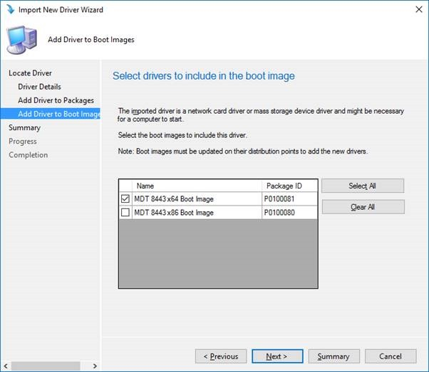Adding Network (and Storage) Drivers to Boot Images in SCCM